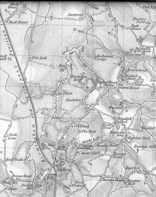 Map of the Hankelow area in the 1830s